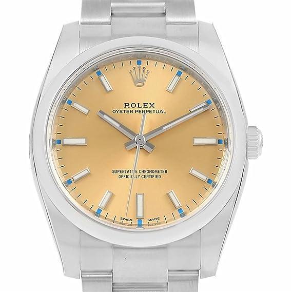 Rolex Oyster 114200 - Reloj de pulsera para hombre automático, con certificado de autenticidad: Rolex: Amazon.es: Relojes