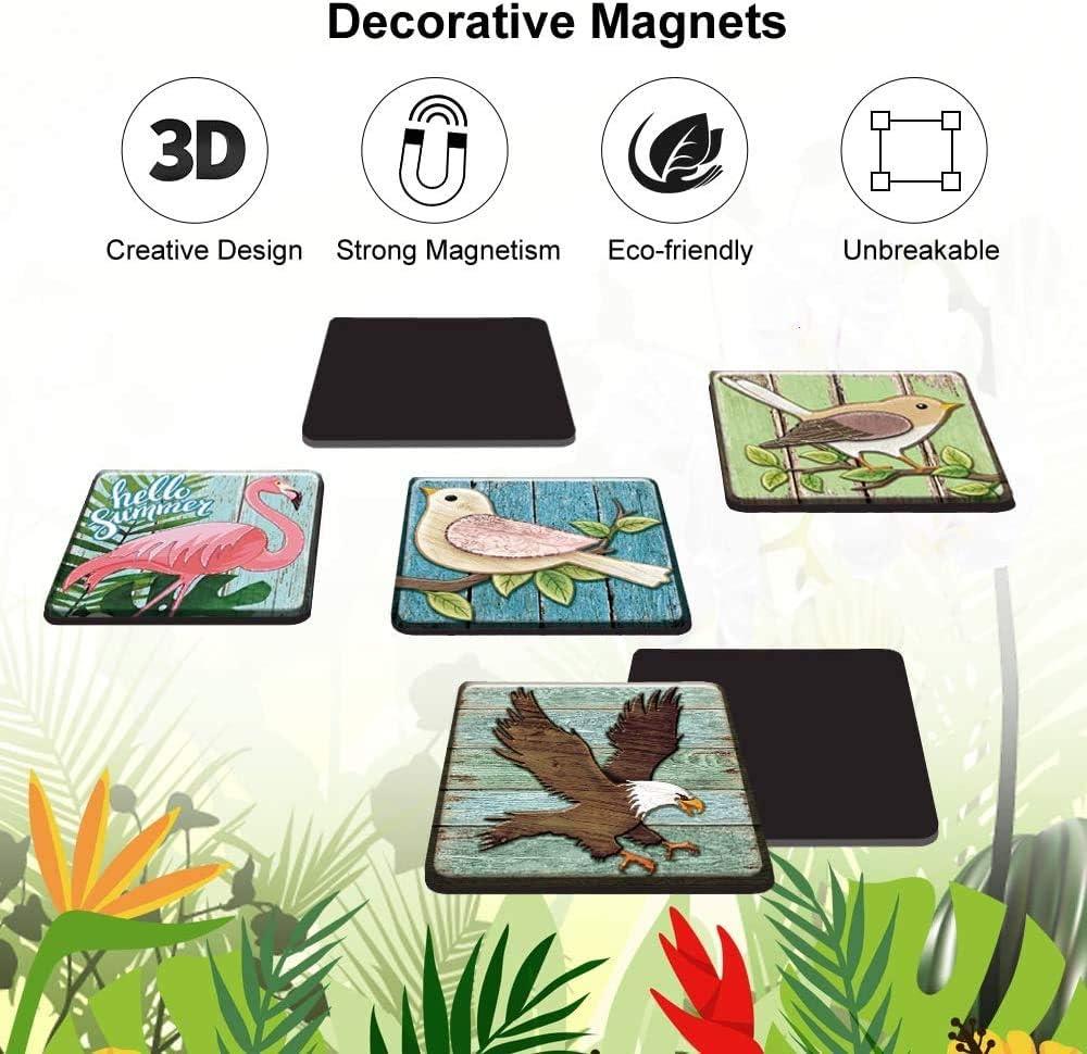 Modello 3D Adatto per Cucina Giocattoli per Bambini Armadietto per Studenti Lavagna Bianca Lavagna Magnetica 6 Pezzi M MORCART Magneti per Cani da Compagnia dei Cartoni Animati