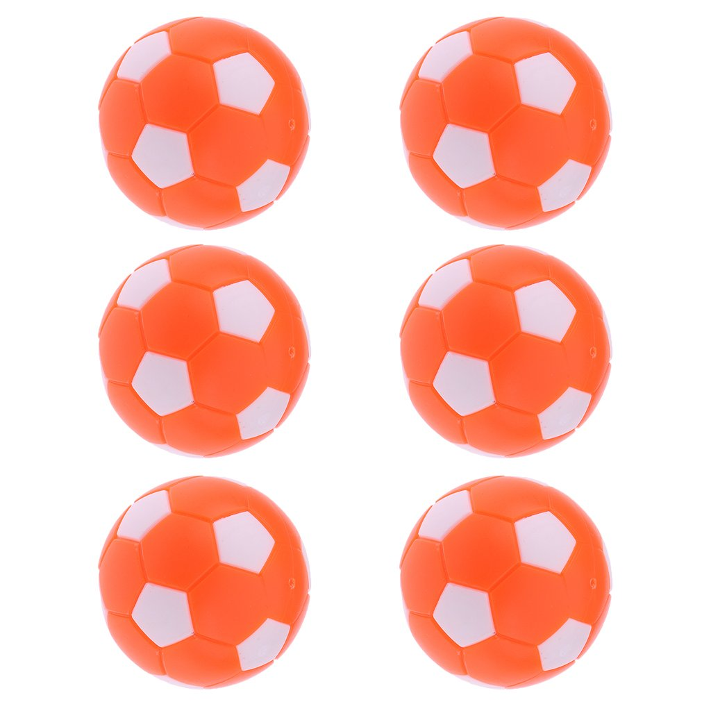 Jili Online 6 Pieces Foosball Table Football Table Soccer Replacement Balls 531364