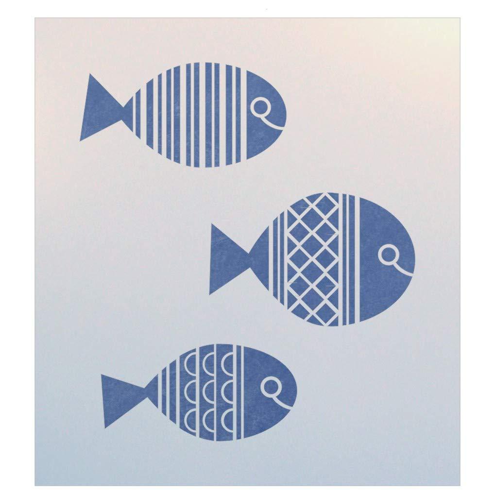 The Artful Stencil Fish Stencil