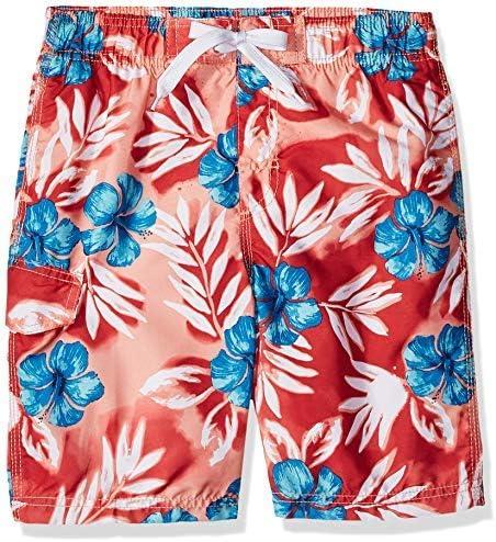 Kanu Surf Big Boys' Reflection Quick Dry Beach Swim Trunk Vacay Red Large (14/16) [並行輸入品]