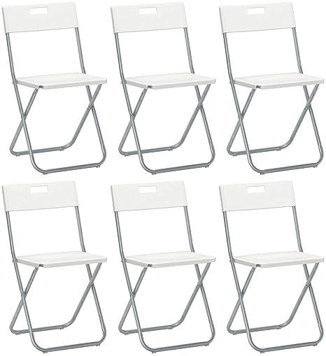 Savino Felipe SRL 6 sillas Silla Plegable Blanca IKEA gunde ...