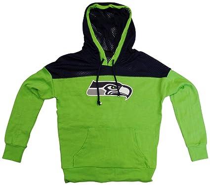 6135e87b035 Seattle Seahawks Women s Halfback Long Sleeve Hooded Sweatshirt X-Small