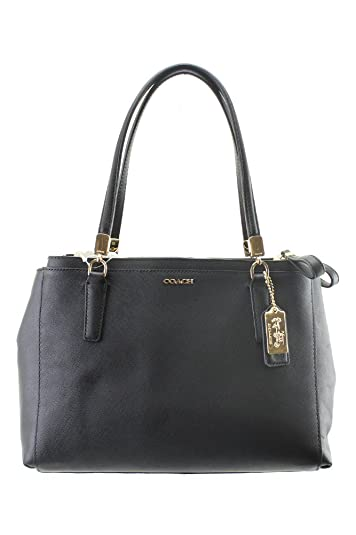 COACH 30128 Madison Small Christie Carryall Shoulderbag in Light Gold Black