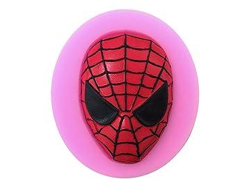 Spiderman máscara Chocolate molde silicona Fondant Moldes para jabón Candy Chocolate Gummies arcilla hacer moldes de pastel hornear herramientas de Papá ...