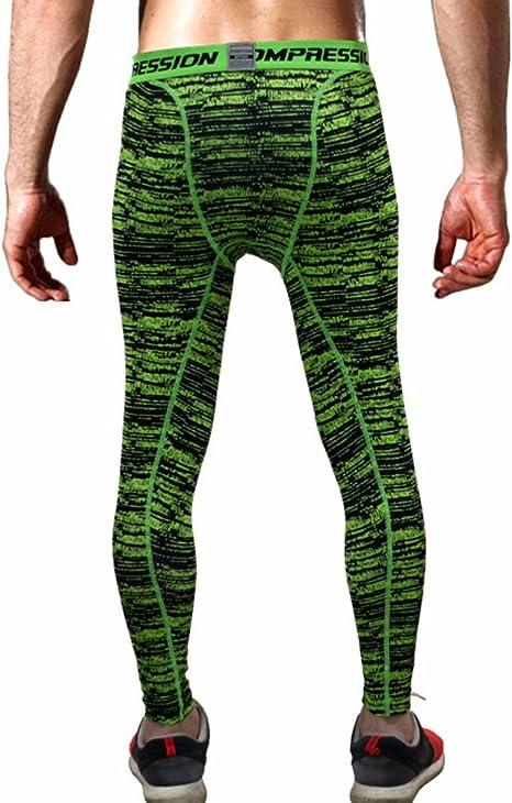 AMZSPORT Hombres Legging de Compresi/ón Pantalones T/érmico para Correr Mallas Deportivas para Gimnasio