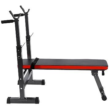 Zerone Banco de pesas plegable, multifunción, para fitness, ejercicio, fuerza, entrenamiento