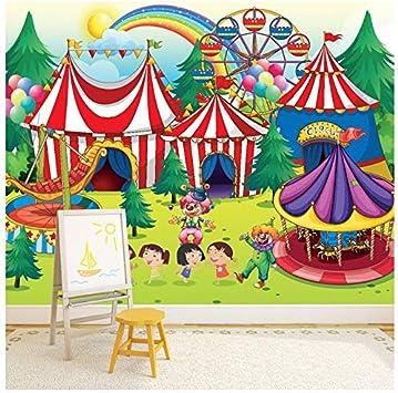 Circus Wall Mural Fairground Photo Wallpaper kids Bedroom Playroom Home Decor