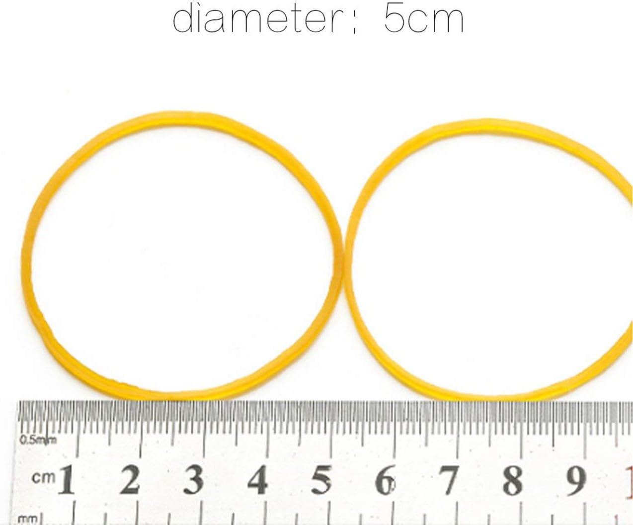 gelb DEjasnyfall 100 teile//paket Gummib/änder F/ür Schule B/üro Haushalt Paket Anti-aging Gummiring Starke Elastische Gelbe Farbe