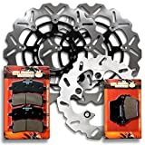 Sumo - Suzuki Front + Rear Brake Rotor Discs + Pads for GSX-R 600 750 L (11-16) / GSX-R 1000 L (12-16) / GSX-R 1000 ZL3/ZL4 Special ED (13-14) / GSX-R 1000 AL5 ABS (2015) with Brembo Calipers