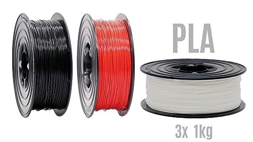Filamento PLA para impresora 3D, 1,75 mm/3 x 1 kg, rollo ...