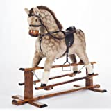 """STRAWBERRY ROAN"" Handmade Rocking Horse MARS PINTO Cheval à bascule MJmark"