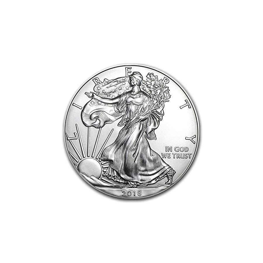 2018 American Silver Eagle .999 Fine Silver with Our Certificate of Authenticity Dollar Uncirculated US Mint
