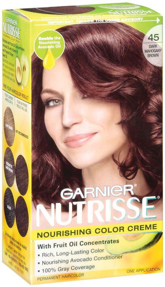 Amazon Garnier Nutrisse Haircolor 45 Dark Mahogany Brown