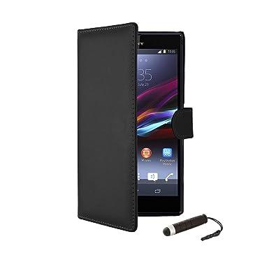 Sony Xperia Z2 - Funda con Tapa para Sony Xperia Z2, Compatible con Sony Xperia Z2, Color Negro