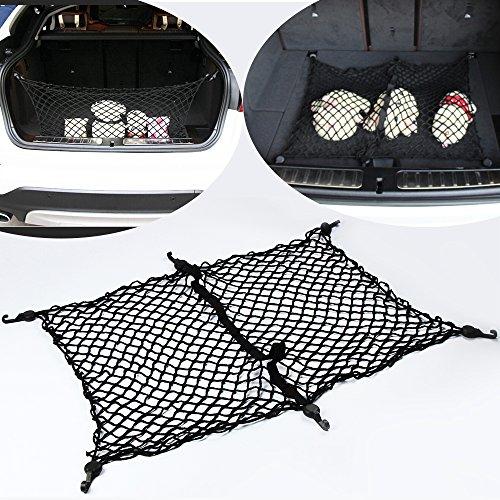 9 Moon Floor/Envelope Style 6 Hook Trunk Cargo Net for Ford Escape Explorer Edge Flex Mustang Fiesta Focus Flex (Style Filter Ford Explorer)