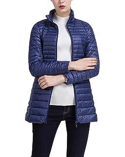 ZhuiKun Abrigo de Plumas Invierno para Mujer Largas Chaqueta de Esquí Parka