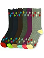 6 Pairs Lot Women Assorted Prints Knee High Socks Fashion Winter Size 9-11