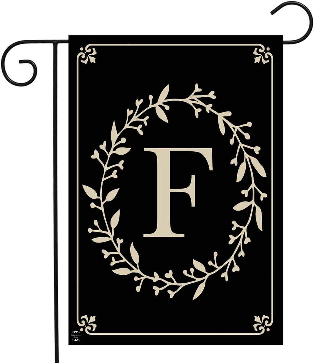 "Briarwood Lane Classic Monogram Letter F Garden Flag Everyday 12.5"" x 18"""