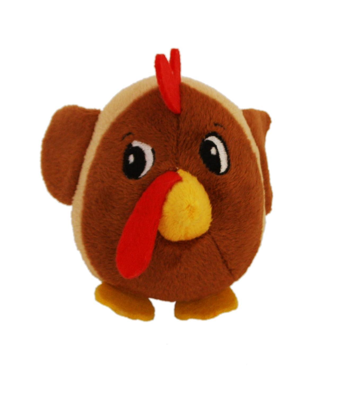 Fattiez Round Squeaky Plush Dog Toy by Outward Hound, X-Small, Chicken