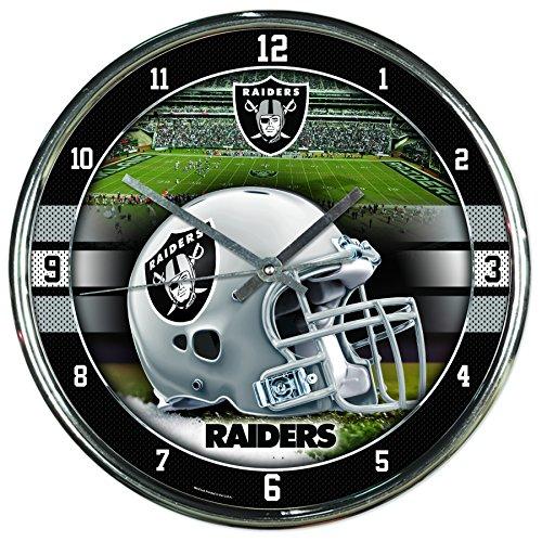 WinCraft NFL Oakland Raiders Chrome Clock, 12