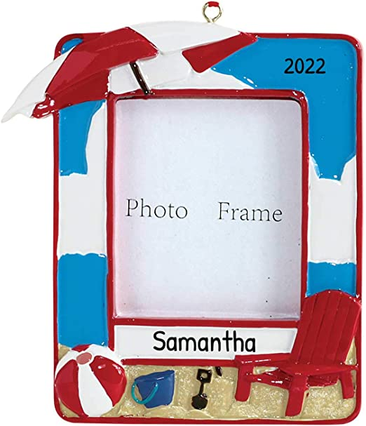 Where Is The Best Beach To Go On Christmas 2020 Amazon.com: Personalized Vacation Picture Photo Frame Christmas