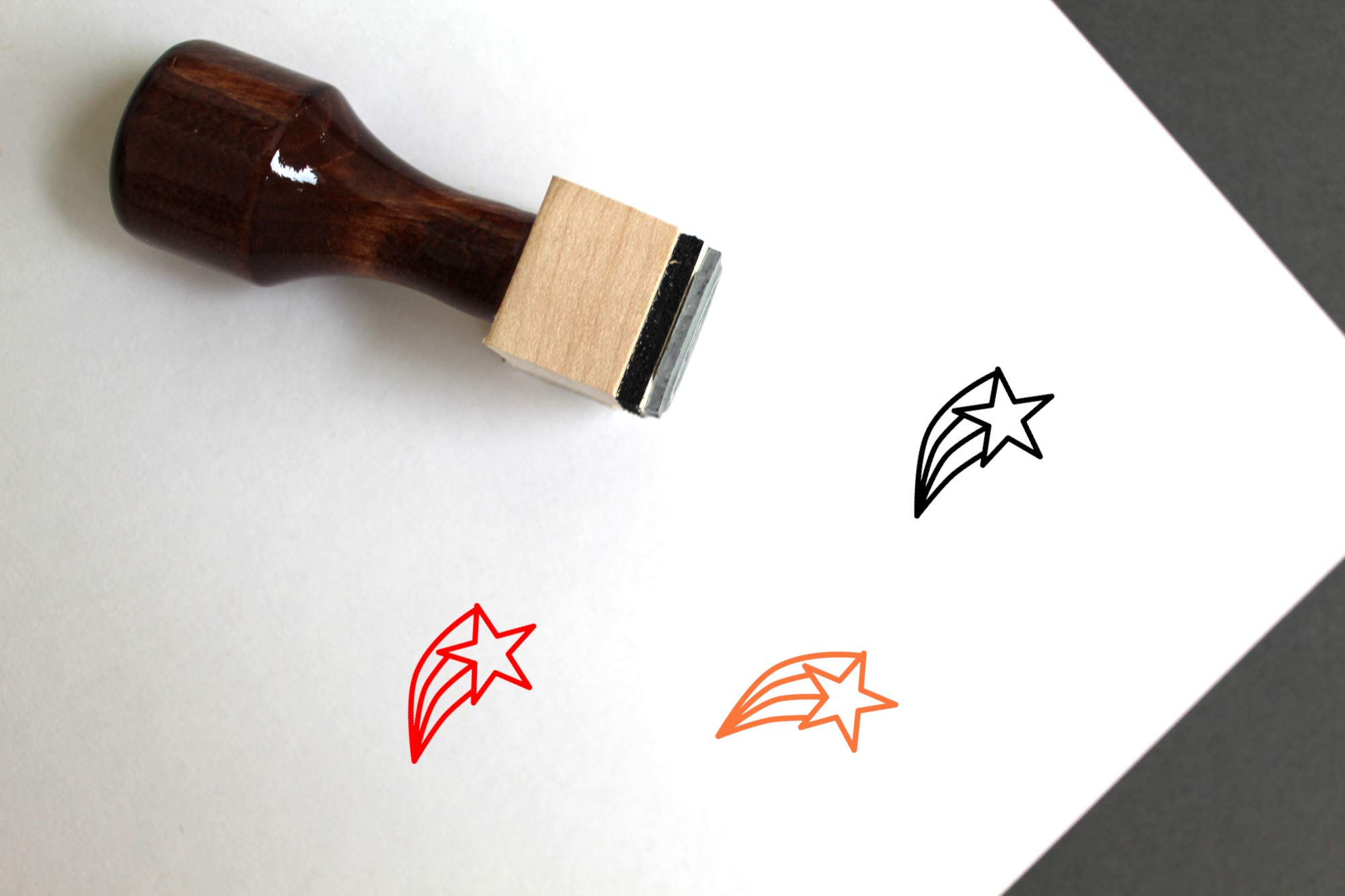 Shooting Star Rubber Stamp (3'' x 3'')