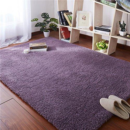 ZI LIN SHOP- Carpet Bedside Bed Mats Living Room Coffee Table Window Mat rug ( Color : Purple , Size : 160x80cm ) by Shoe rack