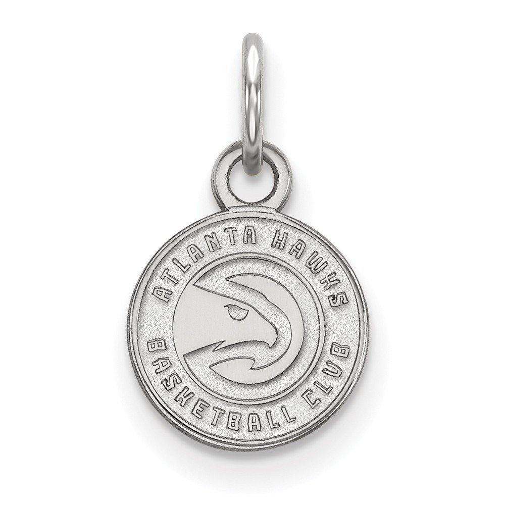 Roy Rose Jewelry 14K White Gold NBA LogoArt Atlanta Hawks X-small Pendant / Charm