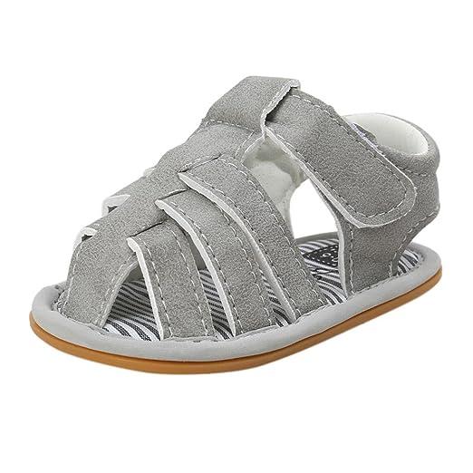 Zapatos Bebe Niño Verano Xinantime Lona Sandalias de Velcro Suela Blanda Zapatos del Antideslizante Zapatos casuales