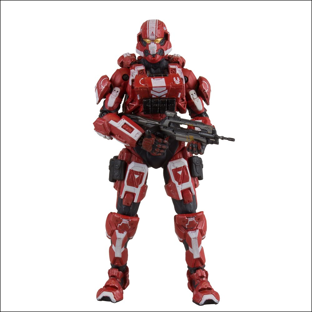 McFarlane Toys, Halo 4, Spartan Soldier [Red] Acton Figure, 5 Inches