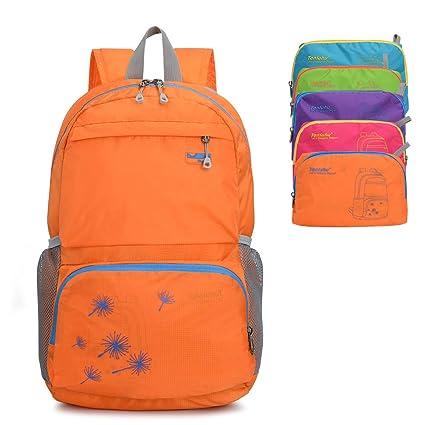 Unisex Foldable Packable Waterproof Backpack Daypack Shoulder Bag Satchel Zip