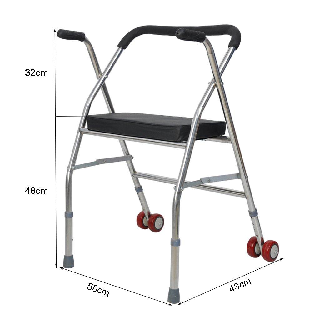 Amazon.com: LYXPUZI Walker Stainless Steel Four-Legged ...