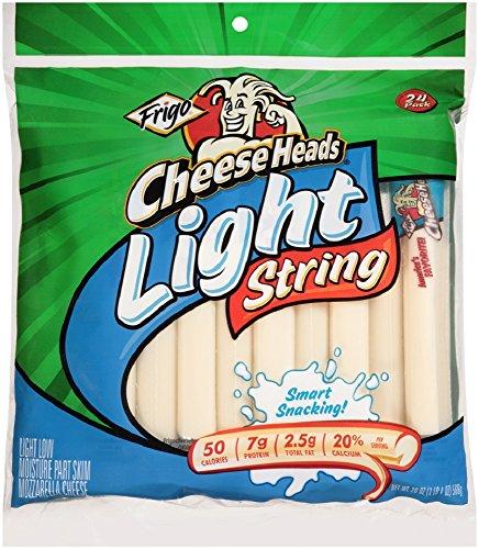 Frigo Cheese Heads, String Cheese Light, 20 - Mozzarella Skim Part