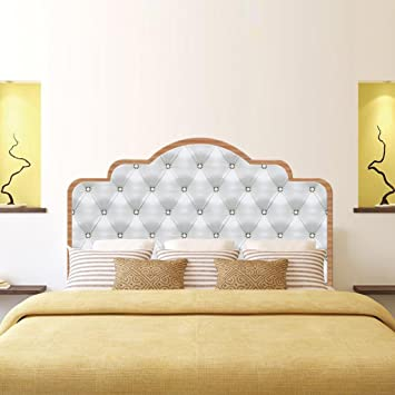3D DIY Wall Sticker For Bedroom Imitation Bed Headboard Wall Decor , Queen  Size
