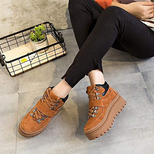 Flat Shoes round EUR37 Shoes Casual Shoes Shoes Shoes brown Thick xt6wZTx