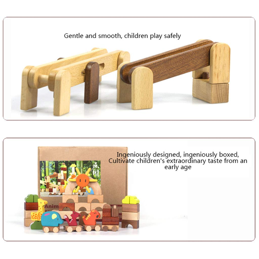 HXGL-Toys Wooden Toys Animal Parks Building Blocks Puzzles Early Education Gifts Pieces (Color : Multi-Colored) by HXGL-Toys (Image #6)