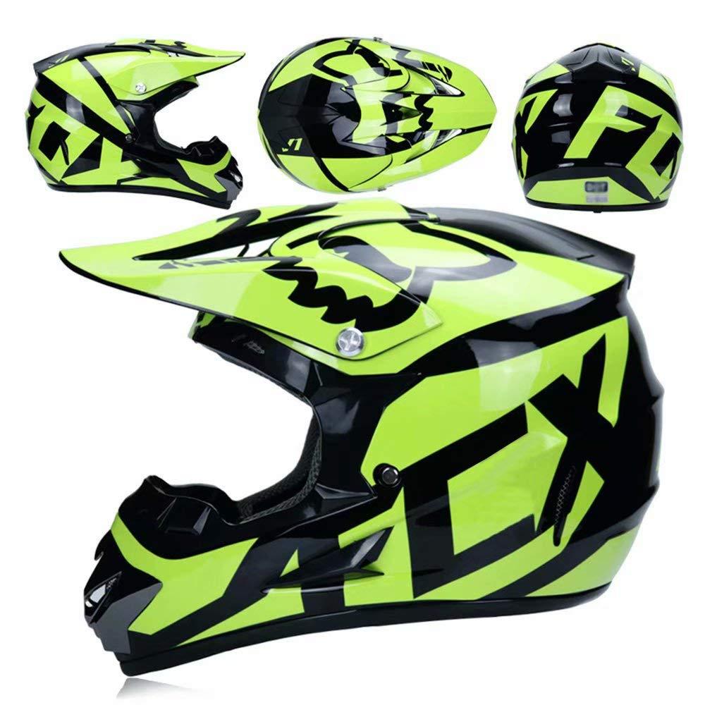 TOKU MX Motocross Helmet MX Motorcycle Helmet ATV Scooter ATV Helmet Road Racing D.O.T Certified Fox Glasses Gloves Mask L59~60CM S, M, L, XL
