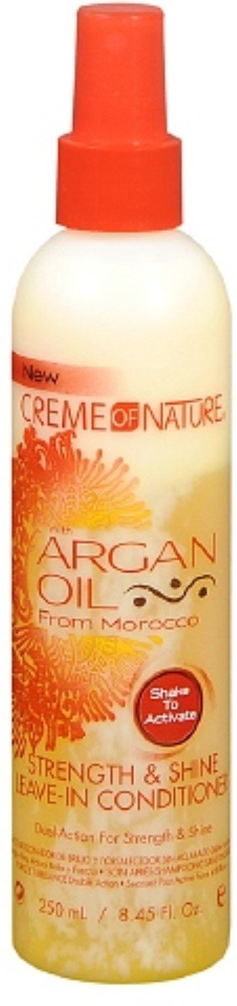 Creme of Nature Strength & Shine Leave-in Conditioner With Argan Oil From Morocco, 8.45 oz (Pack of 4)