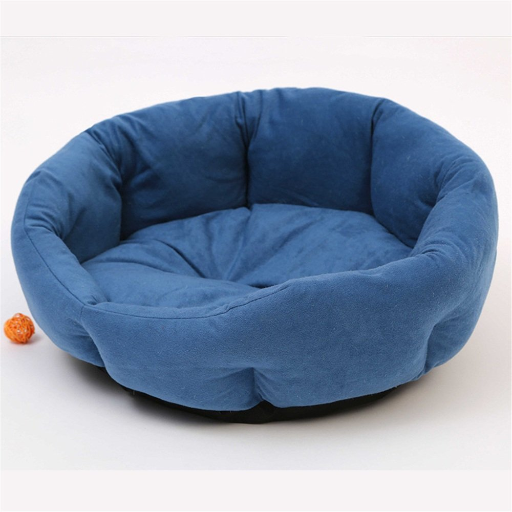 bluee Warm pet nest Small And Medium-sized Dog Pet Nest Kennel Pet Mat Round Fashion Star Octagonal Dou House Cat Litter soft (color   bluee)