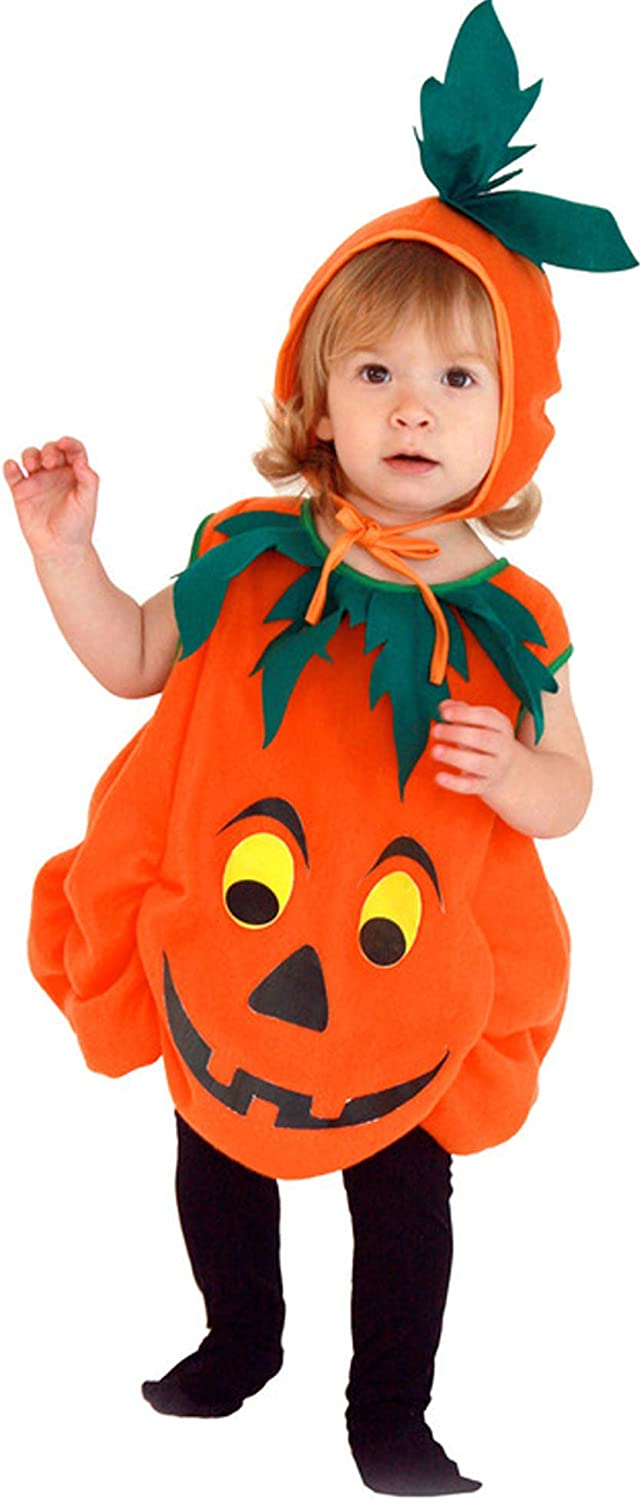 Baby Toddler Pumpkin Costume Childs Cutie Pie Halloween Costume Kids 6-9 Month