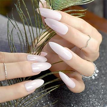Amazon Com White French Tips Fake Nails Extra Long False