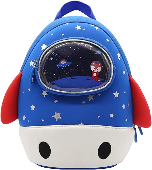 Alnaue 3D Rocket Preschool Kids Backpack For Boy Cute Waterproof Toddler School Lunch Bag