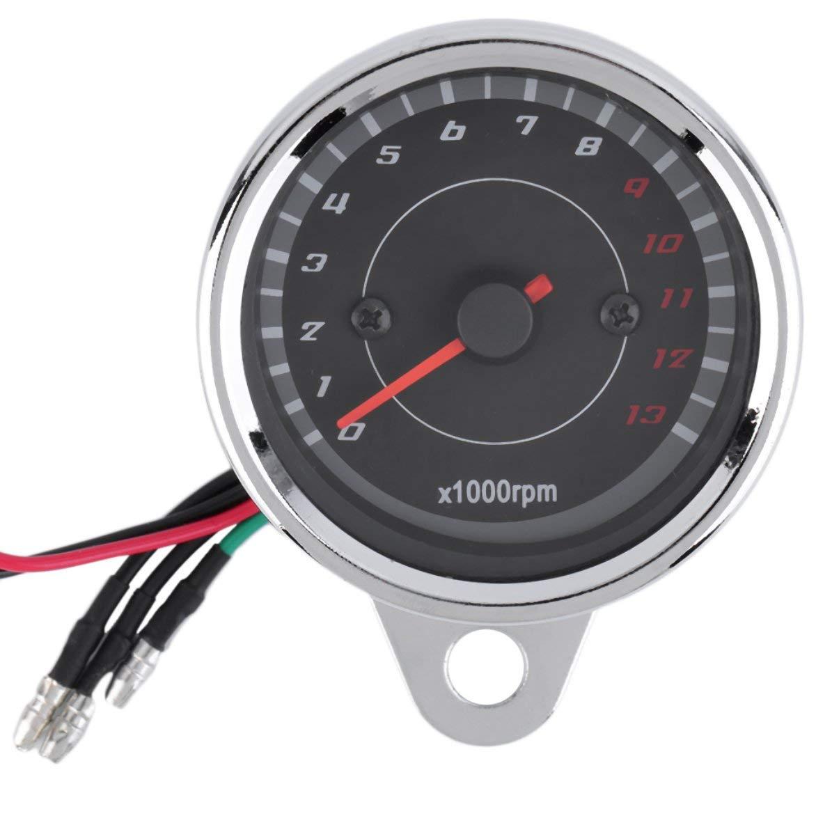 Caldo universale moto retroilluminazione moto LED 12 V contagiri tachimetro calibro di alta qualità nuova caduta di trasporto DoMoment