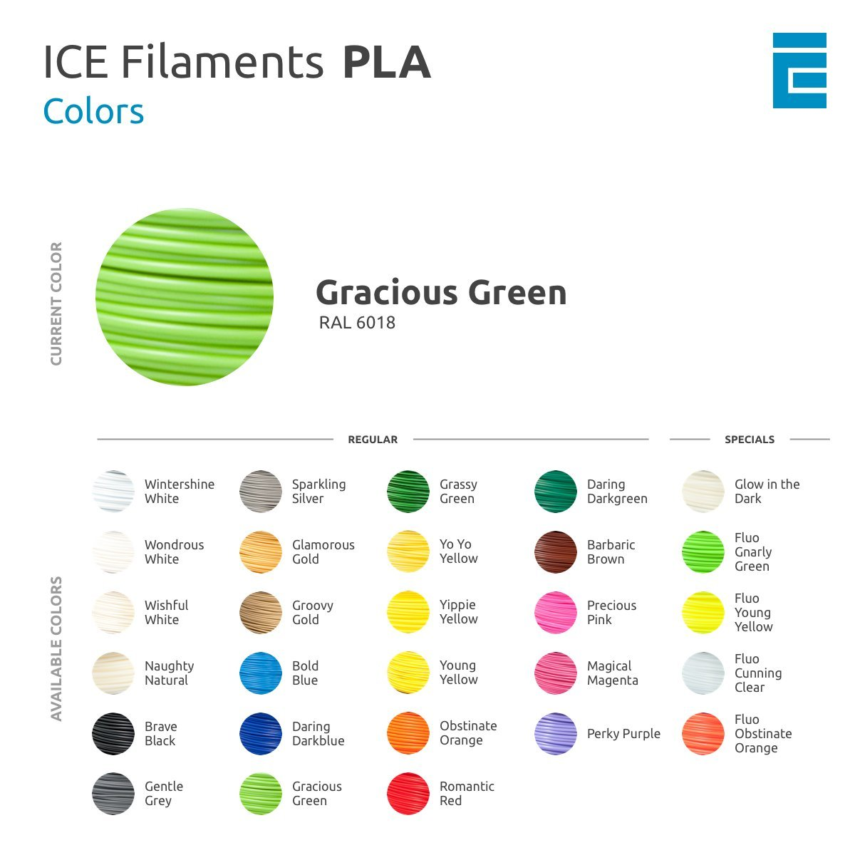 1,75 mm Barbaric Brown 0,75 kg ICE FILAMENTS ICEFIL1PLA104 PLA Filament