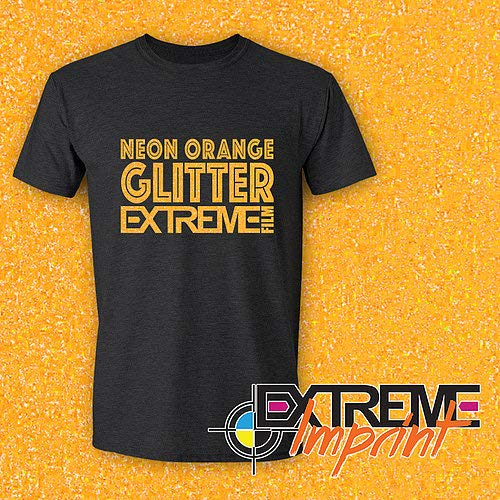 "Extreme Film Iron On Heat Transfer Vinyl 20"" x 12"" Each - 6 Color St. Patrick's Day Bundle (All Glitter Colors: Neon Green GL/Kelly Green GL/Light Green GL/Burnt Orange GL/Gold GL/Neon Orange GL)"