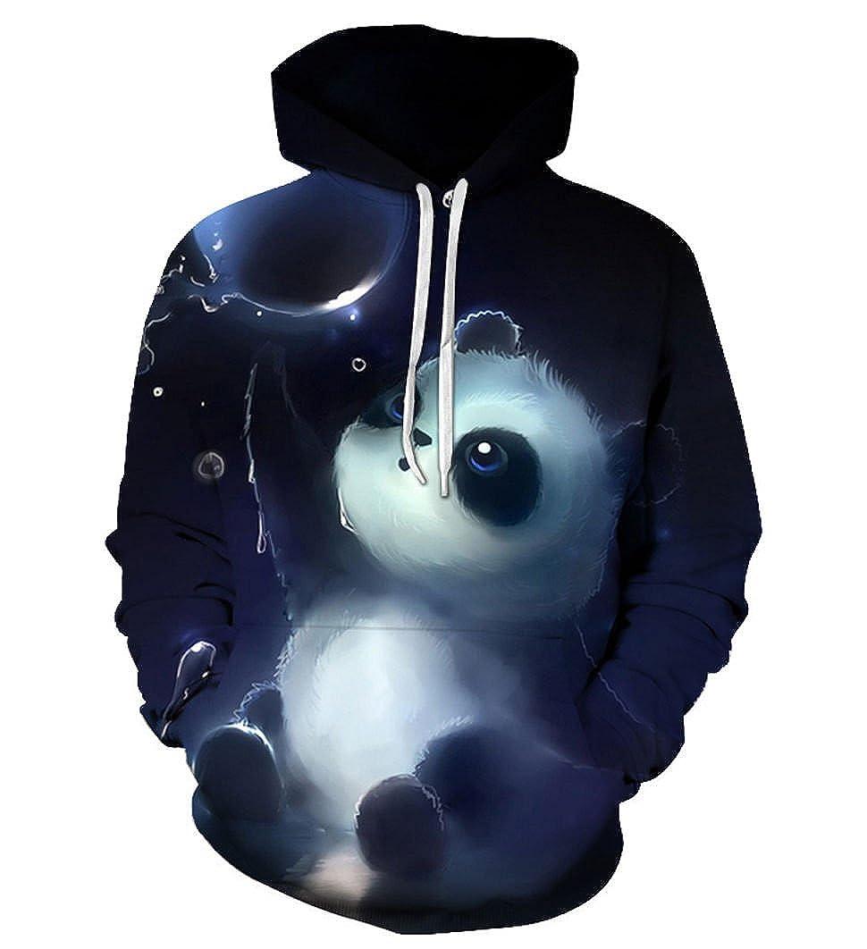 5bb23f126280 SWAG Hipster Men Animal Cute Panda Printed 3D Hoodies Unisex Sweatshirts at  Amazon Men s Clothing store