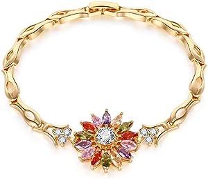 Zircon bracelet dazzling k gold zircon copper bracelet(20cm)