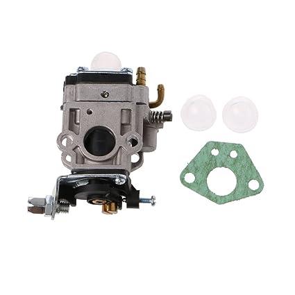 Amazon com: Kangnice 2 Stroke Carburetor 15mm MP15 Carb Kit