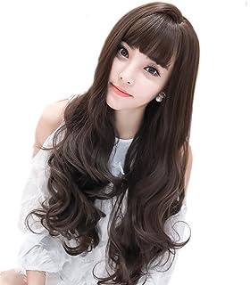 6475ff299050e2 美人ウイッグ:ウイッグ ロング 巻き髪 (ウェーブ) 空気感前髪 100% 高温